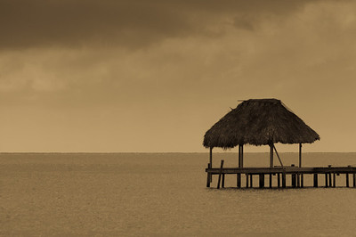 Hut in the ocean - Caye Caulker, Belize