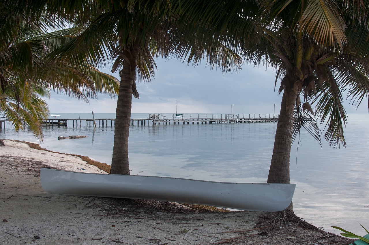 Boat on the shore - Caye Caulker, Belize