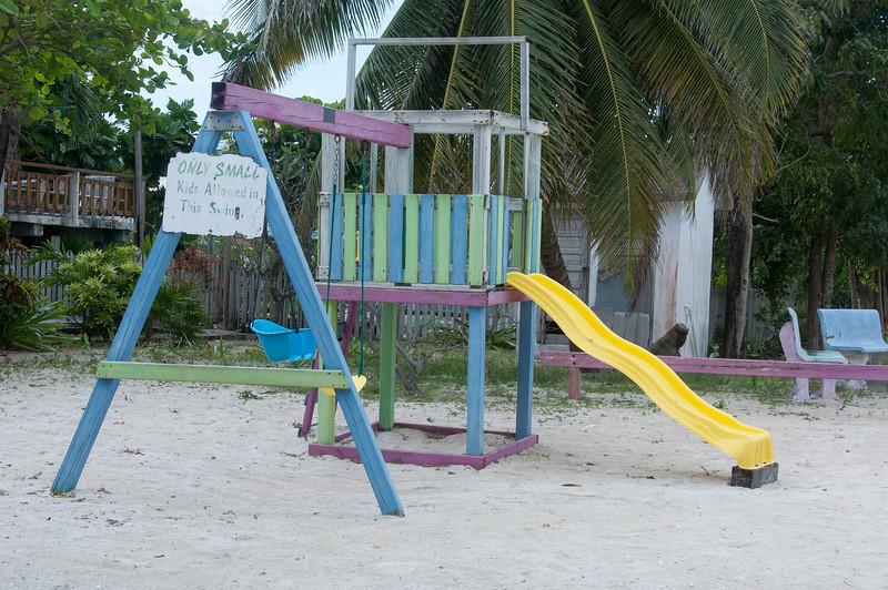 Playground near the beach in Caye Caulker, Belize