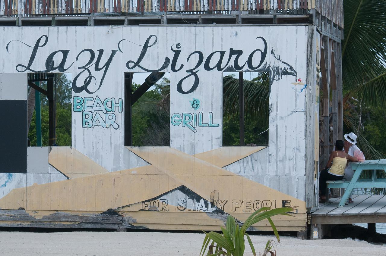 Beach bar & grill at Caye Caulker, Belize