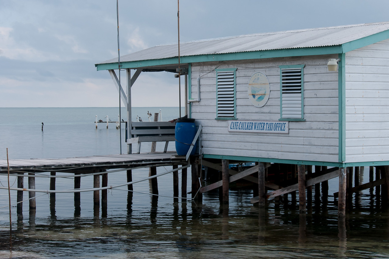 Water taxi office in Caye Caulker, Belize