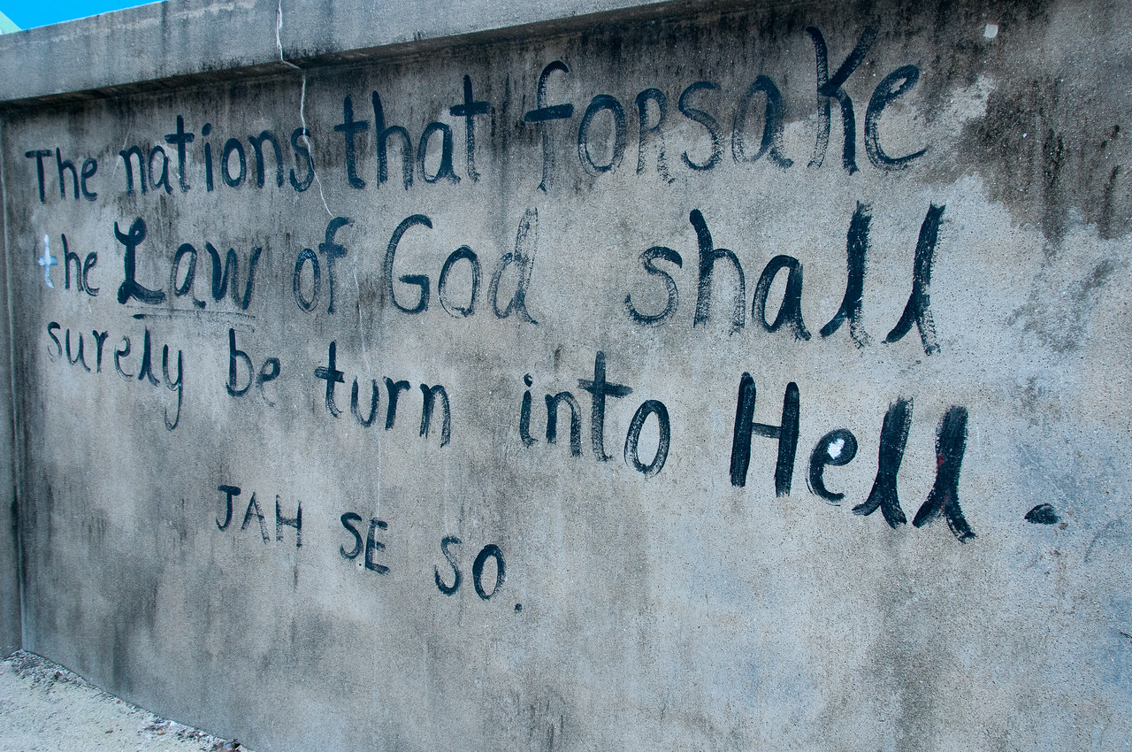 Scriptures on the wall - Caye Caulker, Belize