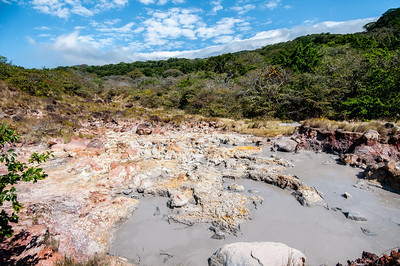 Mudfield in Rincon Volcano National Park, Costa Rica