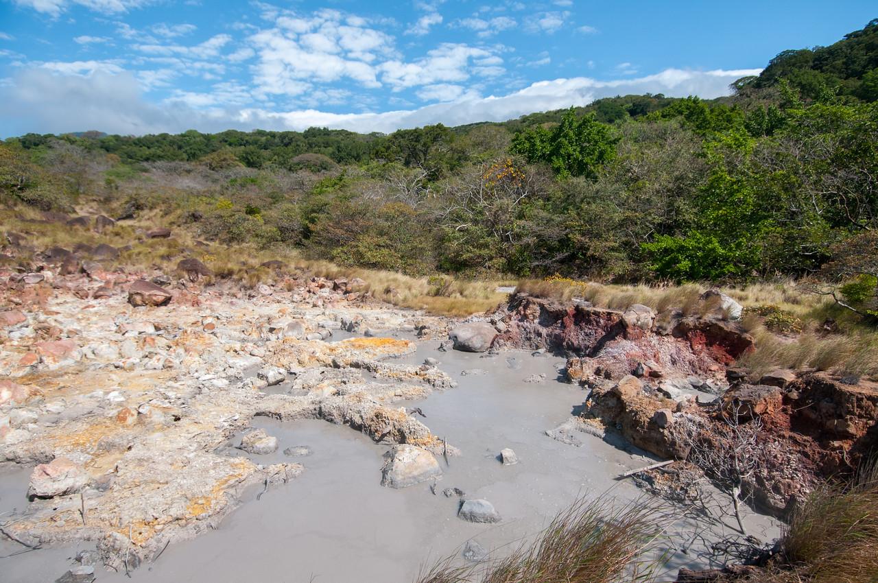 Mudpot field at Rincón de la Vieja Volcano National Park