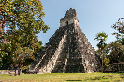 Mayan temple ruins in Tikal National Park, Guatemala