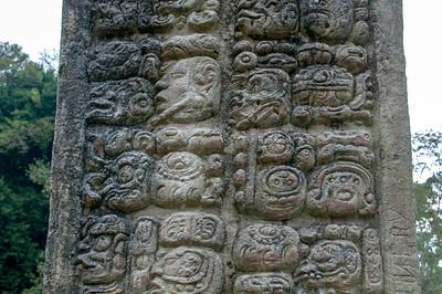 Mayan Stone Carving in the Ruins of Copan, Honduras