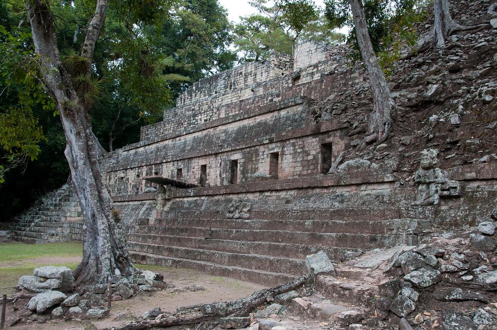 Mayan Temple in Ruins of Copan, Honduras