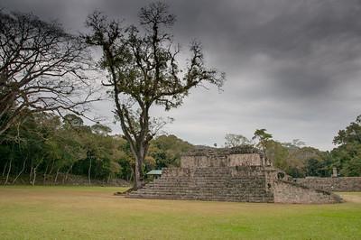 Mayan temple ruins at Copan, Honduras