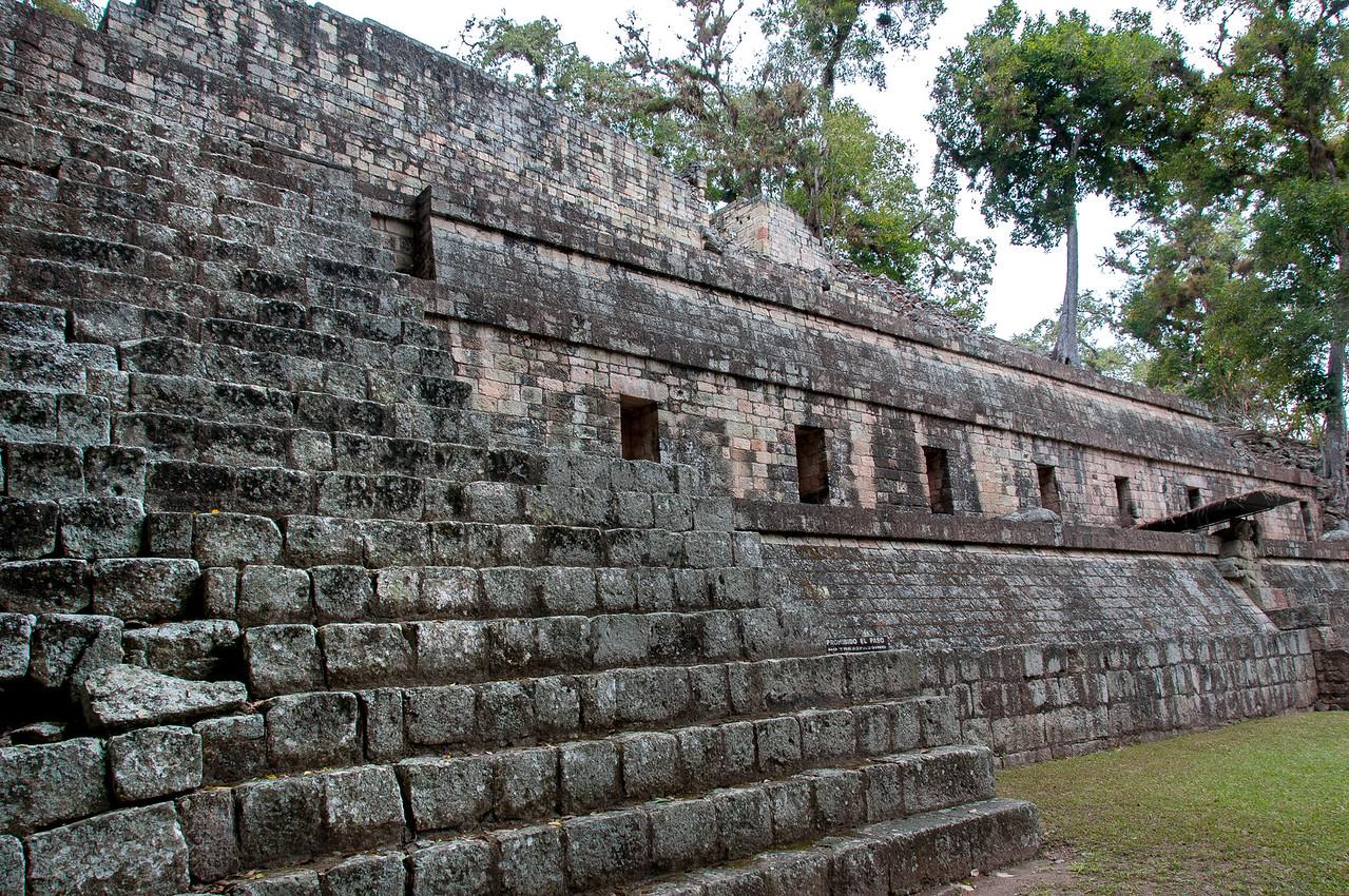 Mayan temple ruins in Copan, Honduras