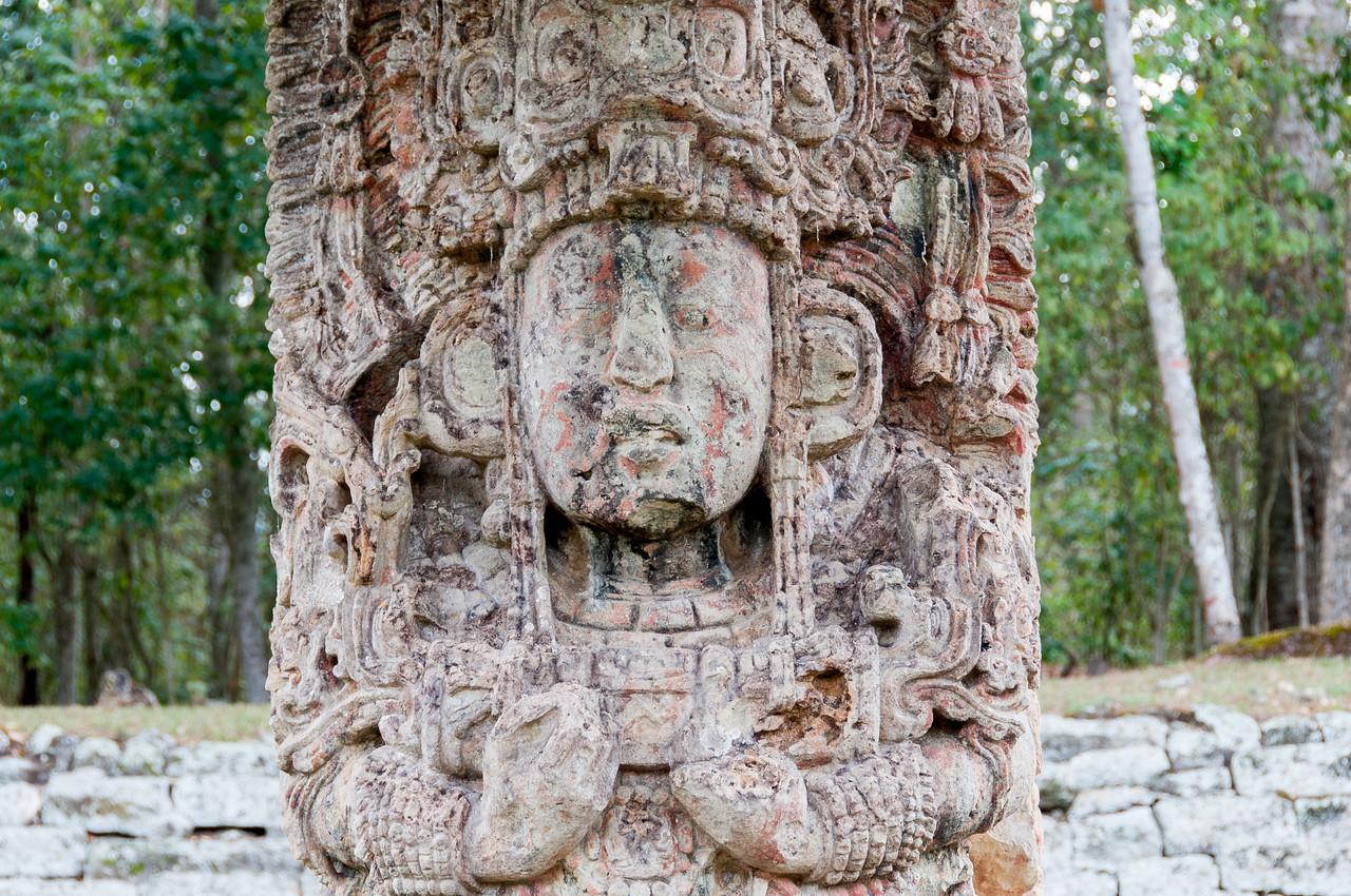 Mayan Stella at the Ruins of Copan, Honduras