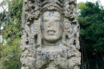 Mayan Stella at the Ruins of Copan, Honduras