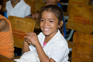 My favorite shore excursion was one I did with other travel bloggers in Honduras bringing supplies to school children