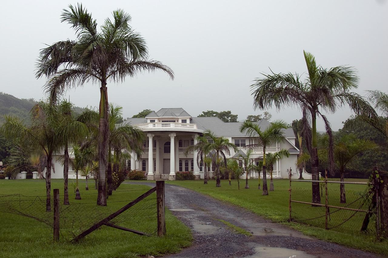 White mansion in Roatan, Honduras