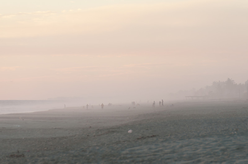 Mist over the beach in Acapulco, Mexico