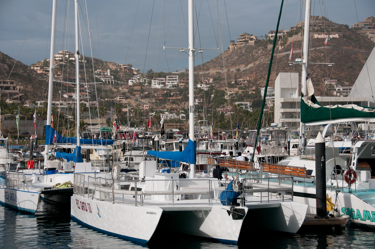 Yachts in harbor in Cabo San Lucas, Mexico
