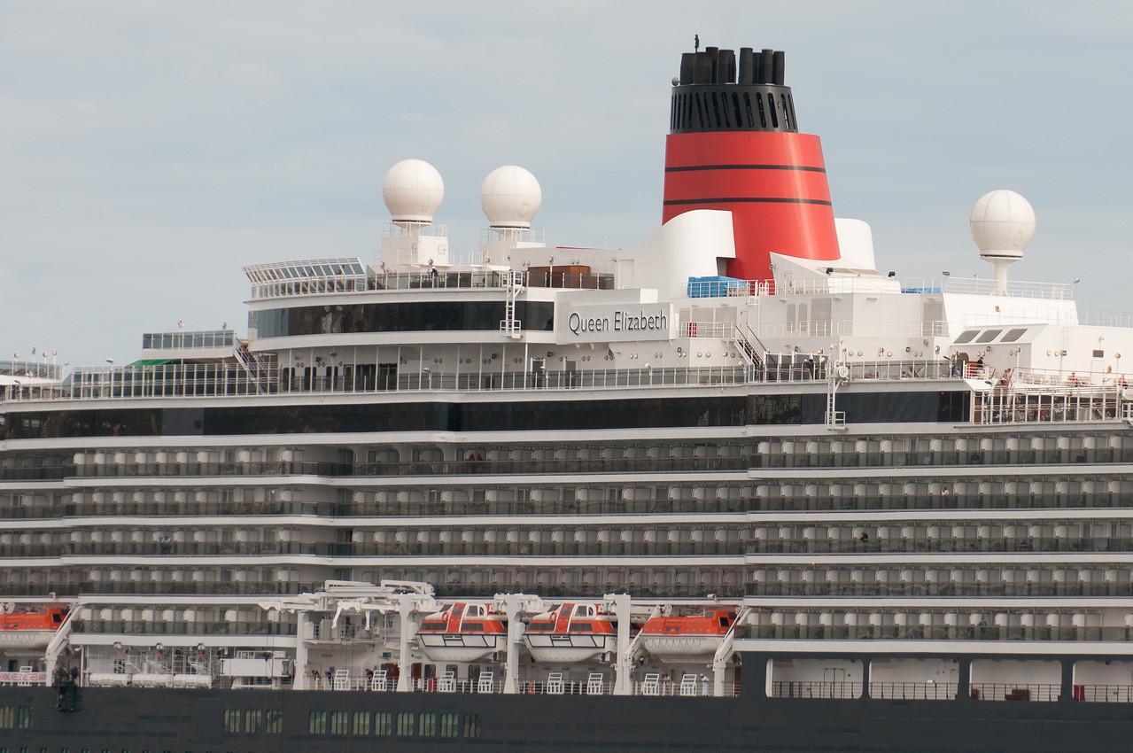 Queen Elizabeth cruise ship in Cabo San Lucas, Mexico