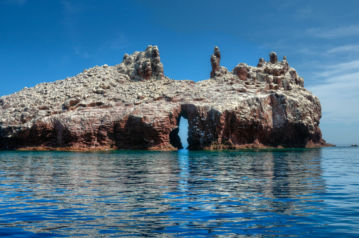 Small island off the cost of La Paz, Mexico in the Gulf of California