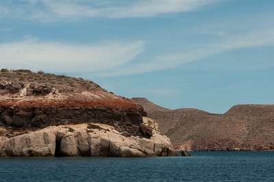 Island off a coast in La Paz, Mexico