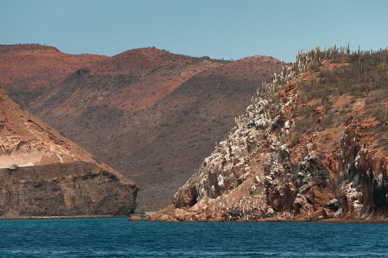 Island off the coast of La Paz, Mexico