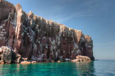 Small island off the coast of La Paz, Mexico in the Gulf of California