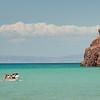 A Boat off the Shore of La                                       Paz, Mexico