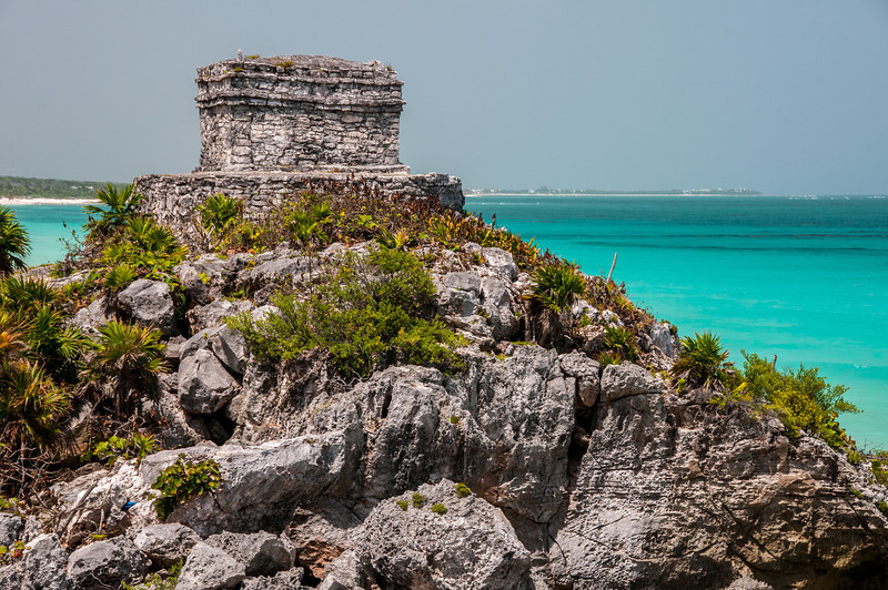 Ruins near the beach in Mayan Riviera, Mexico