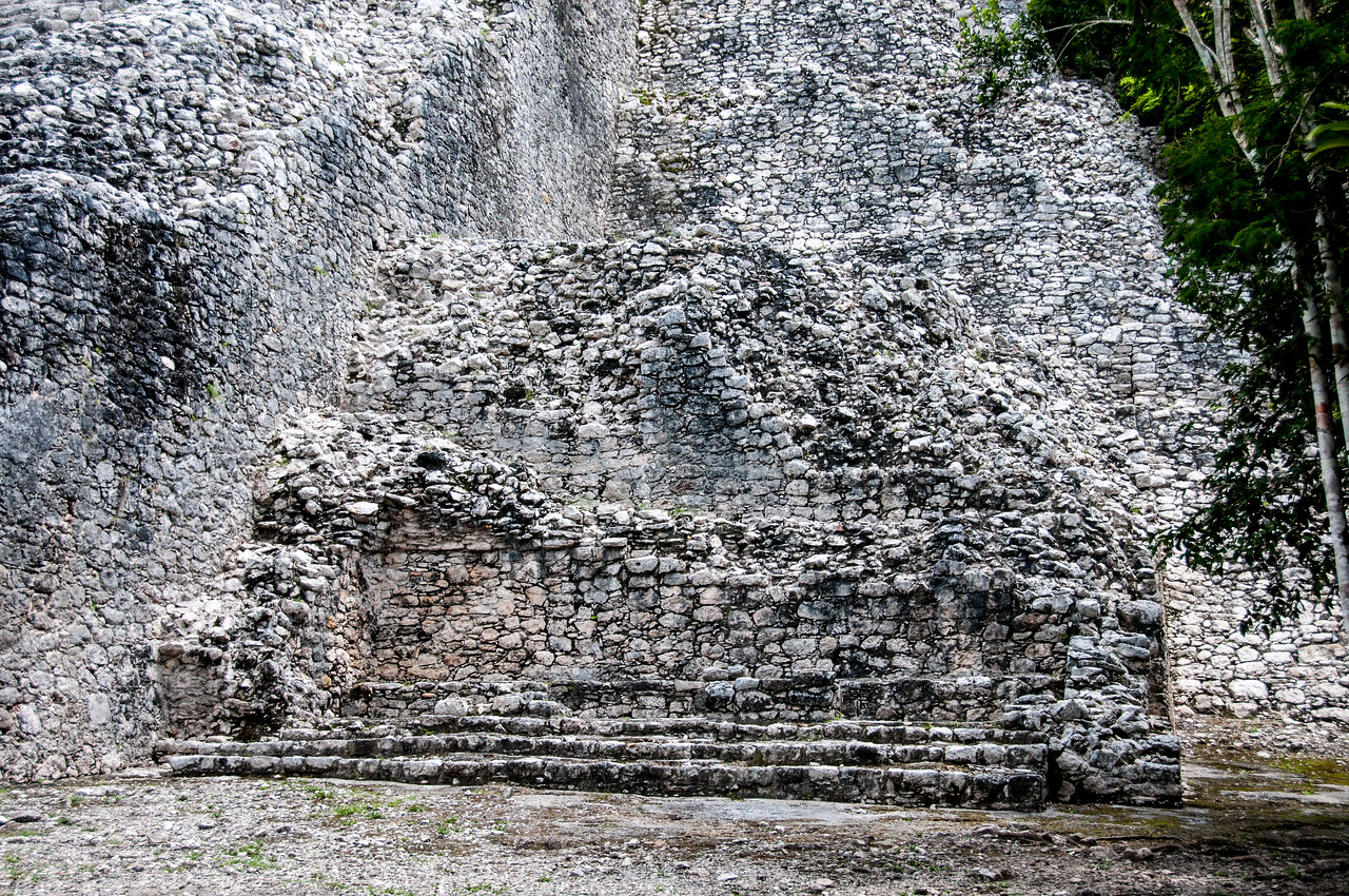 Details of Mayan ruins in Mexico