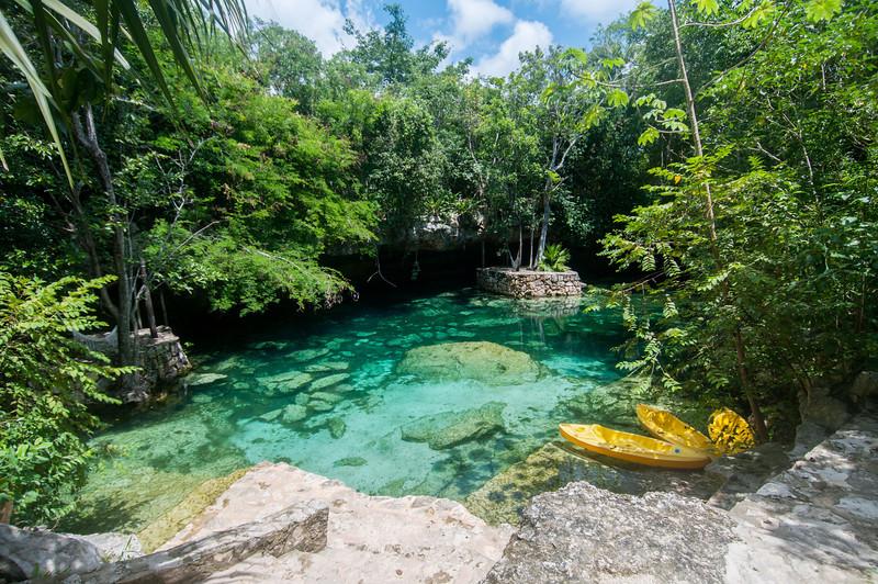 Cenote in Mayan Riviera, Mexico
