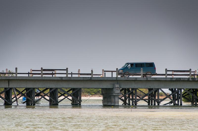 Bridge near beach in Mayan Riviera, Mexico