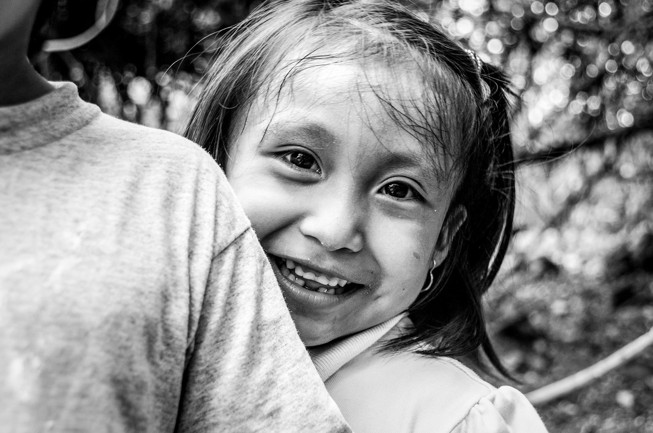 Little girl close-up in Mayan Riviera, Mexico