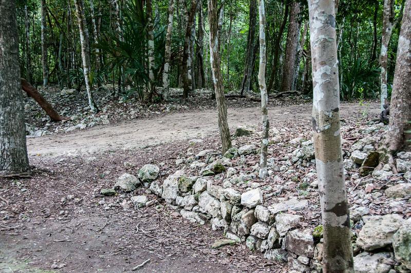 Path near Mayan ruins in Mayan Riviera, Mexico