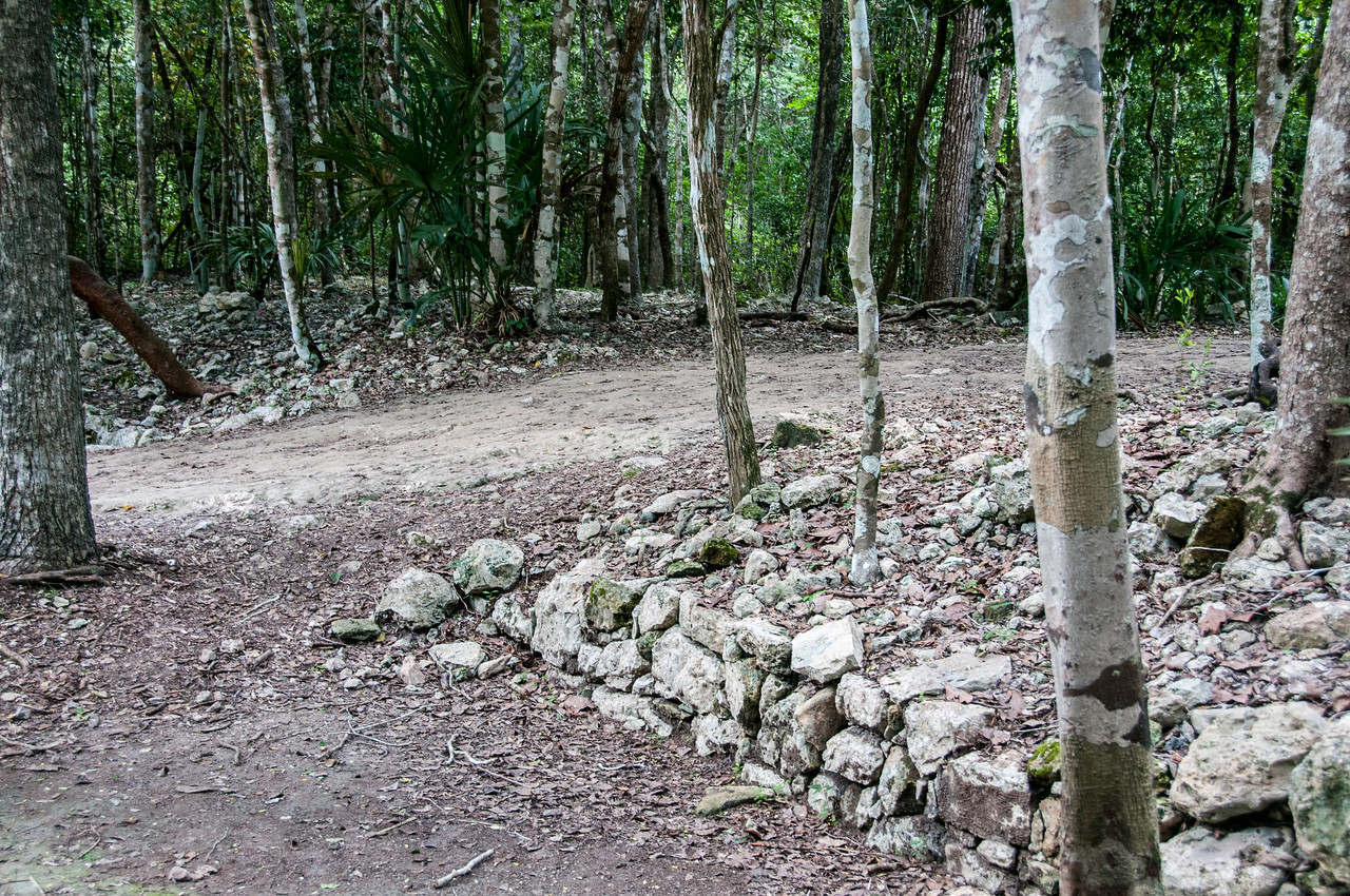 Path near Mayan ruins in Mayan Riviera, Mexico