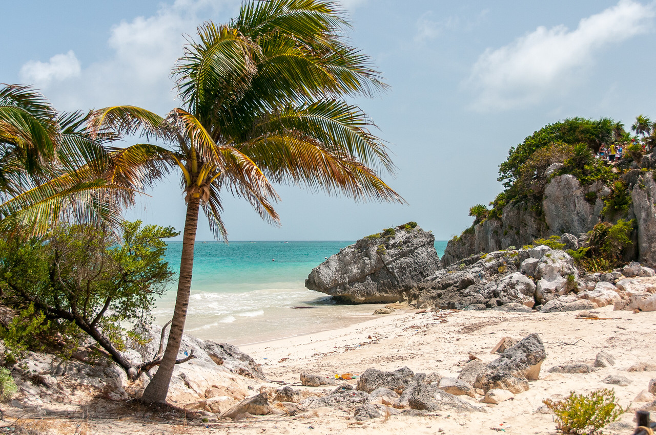 Gorgeous beach in Mayan Riviera, Mexico