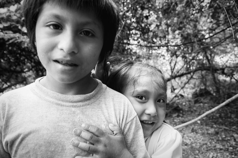 Mayan Children in the Mayan Rivera Region of Mexico