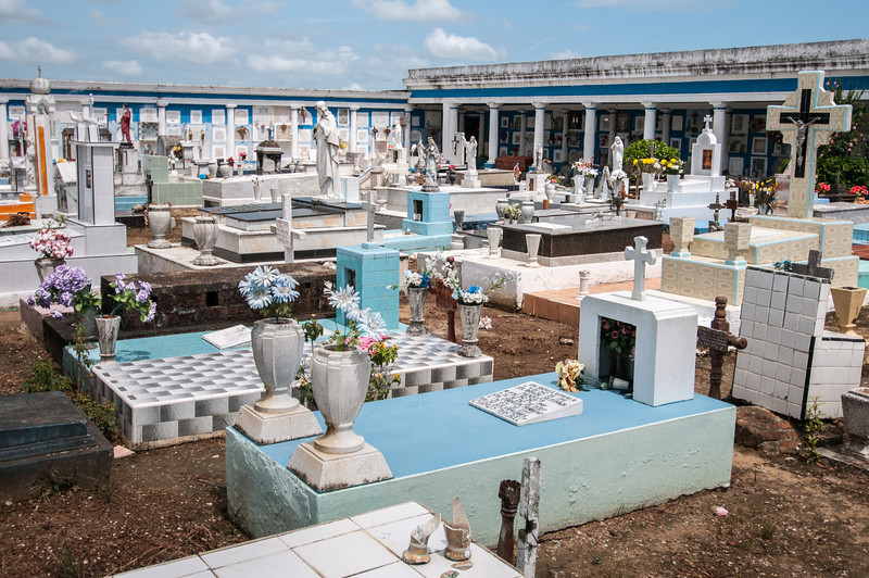 Seaside cemetery in Tlacotalpan, Mexico