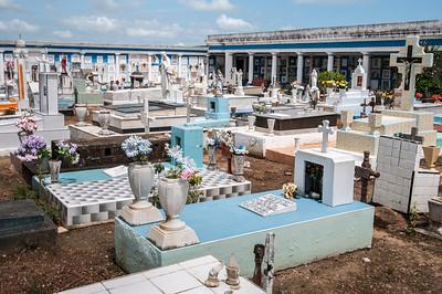 Seaside cemetery in Tlacotalpan, Mexico