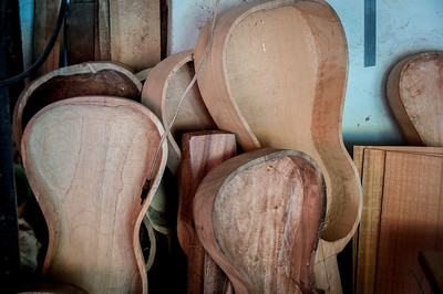 Wooden guitar cases in Tlacotalpan, Mexico