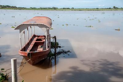 Boat in murky water - Tlacotalpan, Mexico