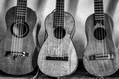 Three guitars in Ttacotalpan, Veracruz, Mexico
