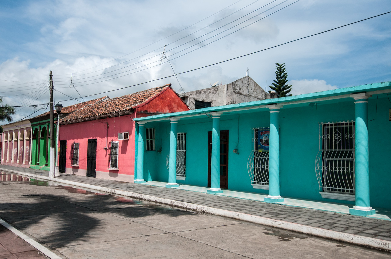 Colorful buildings in Tlacotalpan, Mexico
