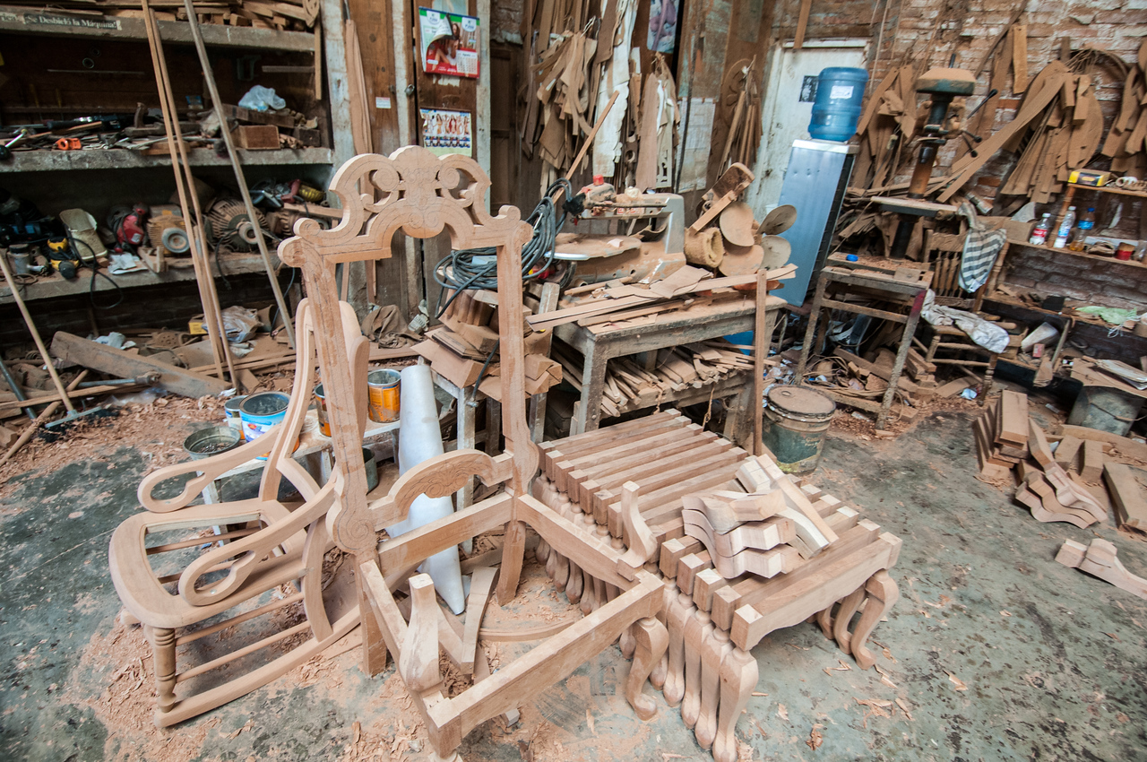 Woodwork factory in Tlacotalpan, Mexico