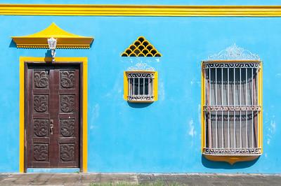 Colorful House Facade in Tlacotalpan, Mexico