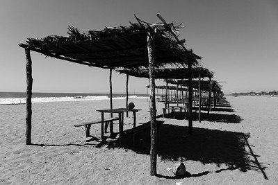 Nur in der zweiten Reihe, aber trotzdem den ganzen Strand für uns.