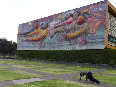 UNAM: la rectoría, Siqueiros-Mosaik