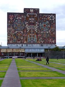 UNAM Biblioteca Central; Mosaik von Juan O'Gorman