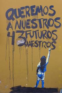 "Banksy-""like"": Grafitti zu Ayotzinapa"