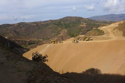 Bau der Neuen Autobahn zwischen Oaxaca und Puerto Escondido
