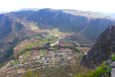Blick zurück auf die Ebene von Santiago Apoala