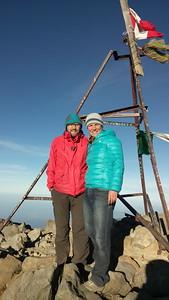Beweisfoto vom Gipfel