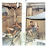 JM25: A grunt?, maybe Shinbur or Schmitz, and Earl Shubert (AZ) sleeping on their cots inside a barracks.